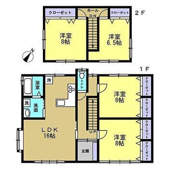 亀田郡七飯町大中山2丁目 戸建て 【リフォーム後間取り図】4LDKに変更し、キッチンを対面キッチンにしました。家族の顔を見ながらお料理できますよ。
