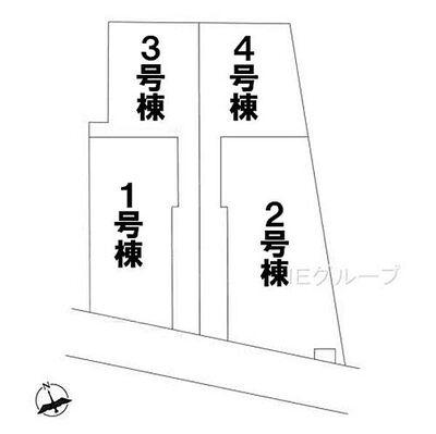 八千代市勝田台南1丁目 新築一戸建て 全4棟 区画図