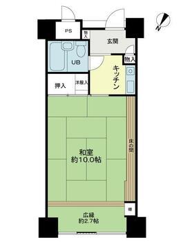 つなぎリゾート紫苑2 1K、価格300万円、専有面積34.2m<sup>2</sup>