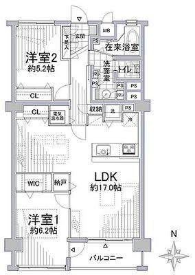 上社北住宅2号棟 無料で3LDKと2LDKの間取り変更が可能です。お客様のニーズに合わせてお選び下さい。