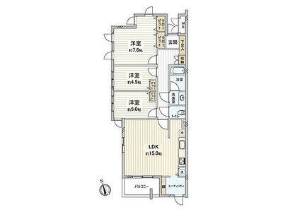シティパル国分寺サレジオ通り ~ 新規内装リノベーション 住宅ローン減税適合物件 三方角部屋 日照・通風良好 南北に緑が広がり、…