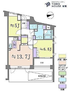 アクシルコート上野 2LDK、専有面積59.02平米、テラス面積7.88平米