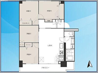 高島平第三住宅 7階 通風、眺望良好  6号棟
