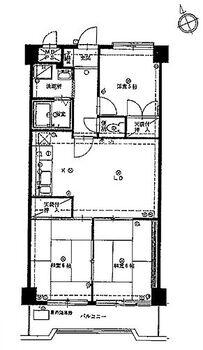 新宿マンション リフォーム前(分譲時間取図)