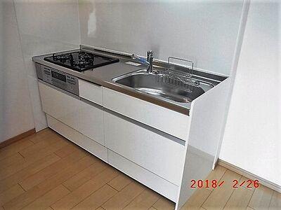 グランドハイツ菅田 室内は2017年9月リフォーム。キッチンは新品交換されました。