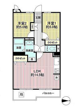 ライオンズマンション中央林間第7 907号室 間取り図
