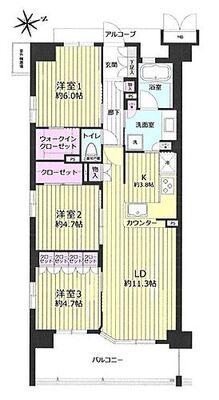 ノルディック八千代緑が丘 東南角部屋収納力たっぷりの間取りでお部屋もすっきり片付きます。