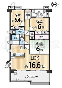 ナチュラガーデン高の原1番館 ■8階建の4階部分の部屋ですが、階下に住戸がなく足音などを気にせずお過ごしいただけます♪